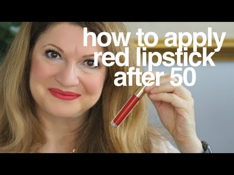 After 50 | How I apply my red lipstick