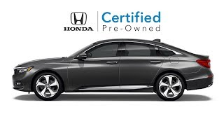 Why Consider a Honda Certified Pre-Owned Vehicle