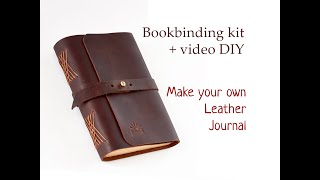 DIY For Bookbinding Kit Make Your Own Leather Journal