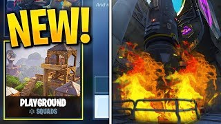 "NEW UPDATE! *SECRET* Missle TAKEOFF! Playground LTM + ""Stink Bomb"" (Fortnite Update LIVE)"