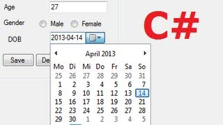 C# Tutorial 23: How to use DateTimePicker and save date in Database