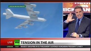 Watch Russian Jets scramble to push away B-52