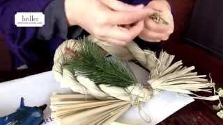 おしゃれなしめ縄の作り方広島安芸郡府中町プリザーブドフラワー教室