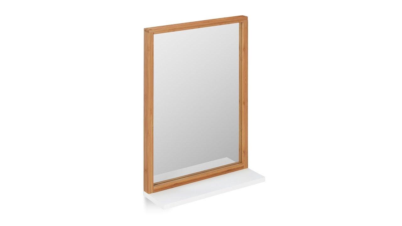 Video von: Wandspiegel mit Ablage in Weiß