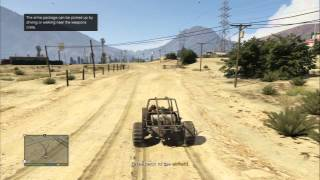 Grand Theft Auto V - Grand Trafficking Passed, Drive BF Dune Buggy To Retrieve Arms Package PS3