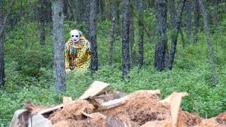 He's Been Watching Us?!  Scary Clown Attacks in Woods while weee are Picnicking