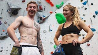 Gymnast tries OLYMPIC CLIMBING ft. Shauna Coxsey