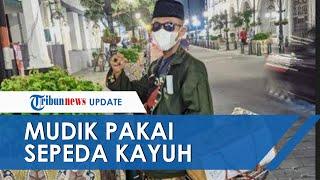 Bekal Rp100 Ribu, Santri di Rembang Kayuh Sepeda Ontel Tempuh Jarak 249 Km untuk Mudik ke Pemalang