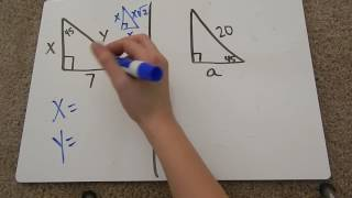 Special Right Triangles 45-45-90 Tutorial
