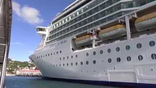 preview picture of video 'Charlotte Amalie, St. Thomas, USVI - Sailing by the Jewel of the Seas HD (2015)'