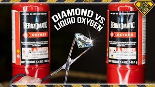 Melting Diamonds with Oxygen