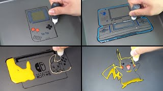Nintendo Pancake art - gameboy, nintendo ds, nintend switch, pikachu