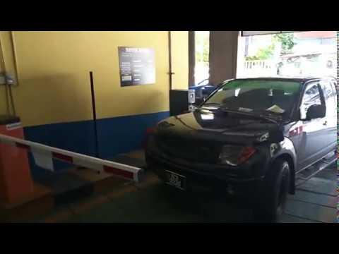 Parking entry station ticket dispenser