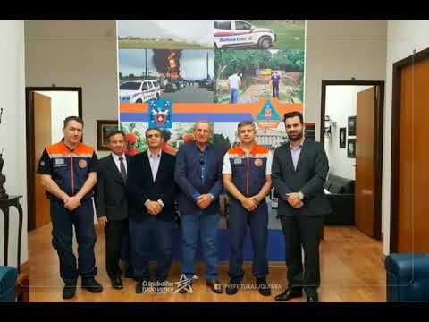 O Prefeito Ayres Scorsatto, o Presidente da Câmara de Juquitiba, Irineu Machado e o Secretário Municipal de Gestão, Junio Cesar participaram de uma reunião de emergência na sede da Defesa Civil do Estado de São Paulo