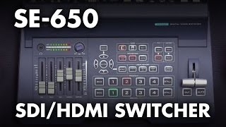 Introducing: Datavideo SE-650 HDMISDI HD Video Switcher w Built-in Audio Mixer