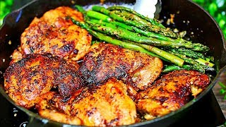 Garlic Butter Chicken and Asparagus Recipe - Easy Chicken & Veggies