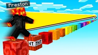 JUMPING ON EVERY RAINBOW BLOCK IN MINECRAFT POCKET EDITION!