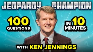 Can Ken Jennings Answer 100 Questions in 10 Minutes? | Jeopardy Trivia Challenge