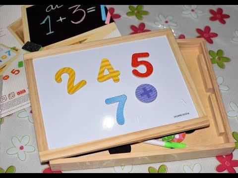 Pizarra de Madera Doble y Números Magnéticos, ColorBaby 43624