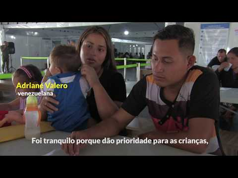 Centro governamental em Pacaraima recebe venezuelanos