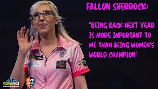 "Fallon Sherrock: ""Being back next year is more important to me than being women's World Champion"""