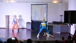 preview picture of video 'Goku vs Vegeta, Dragon Fest Chetumal 2014'