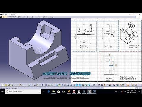 CATIA V5/V6 TAMIL TUTORIAL PART - 1 | SKETCHER - игровое