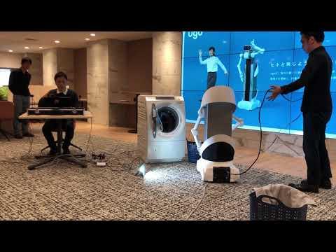 Wäsche-Roboter in Arbeit