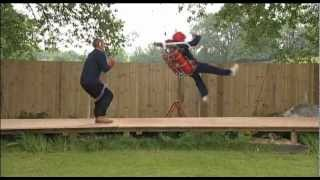 British Rocketman Almost Kills Himself With A Home Made Jetpack!!