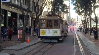 San Francisco Cable Cars: Powell-Hyde Line, Start to Finish. A