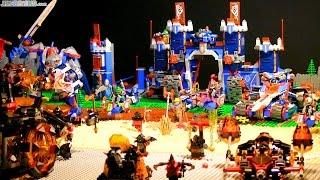 LEGO Nexo Knights season 1 battle display!