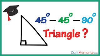 The 45-45-90 Triangle ( GMAT / GRE / CAT / Bank PO / SSC CGL)