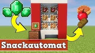 Minecraft wie baut man einen funktionierenden Snackautomat | Minecraft Snackautomat bauen deutsch