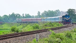 Maitree Express IR Rake passing through 3 rail curves in an uncut video clips || Indian Railways