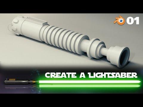 Blender Beginner Tutorial: Create a Lightsaber - 1 of 2