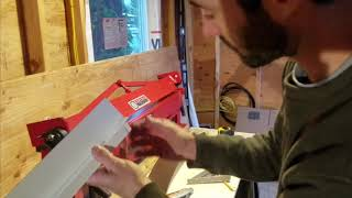 Window trim Z flashing - bending with a metal brake and installation on my tiny house