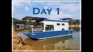 Tiny Houseboat Life , Awesome First Day In 4K