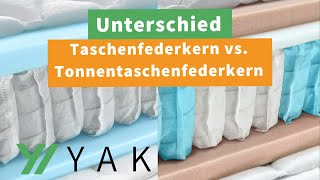 Unterschied: Taschenfederkern vs. Tonnentaschenfederkern - Was ist besser?