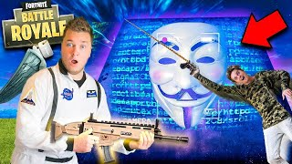 GAME MASTER HACKED FORTNITE SEASON 6! 😱Real Life Fortnite Nerf Challenge