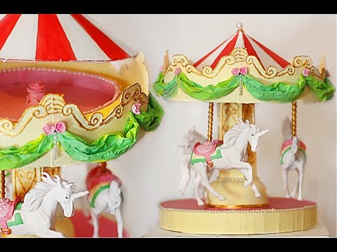 Crafts with cardboard - Carousel jeweler recycling - vintage crafts diy