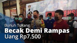 Demi Rampas Uang Rp7.500, 4 Remaja di Semarang Bunuh Tukang Becak