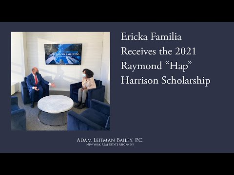 "Ericka Familia Receives the 2021 Raymond ""Hap"" Harrison Scholarship testimonial video thumbnail"