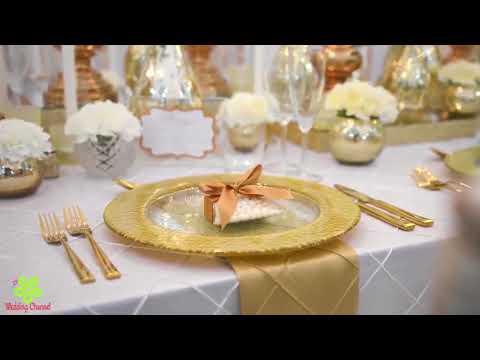décoration table de mariage romantique