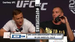 UFC 25th Anniversary Press Conference featuring Nate Diaz, Dustin Poirier