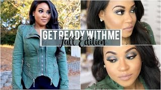 Get Ready With Me | Fall Edition: Bold Makeup, Hair + Outfit