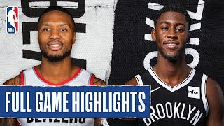 TRAIL BLAZERS at NETS | FULL GAME HIGHLIGHTS | August 13, 2020