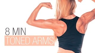 8 Minute Toned Arms (BEST TRICEPS EXERCISES!!) by Athlean-XX for Women