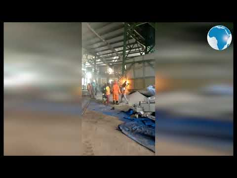 Port workers cut equipment to retrieve colleagues' bodies and save those injured in an accident