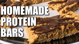 CHEAP HOMEMADE PROTEIN BARS: Chocolate Peanut Butter Crisp