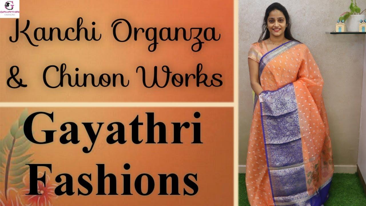 "<p style=""color: red"">Video : </p>Kanchi Organza | Designer Organza | Chinon | Georgette | Hand Embroidery 2021-07-28"